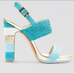 Vince Camuto Adrien Strappy Sandal Heels Blue